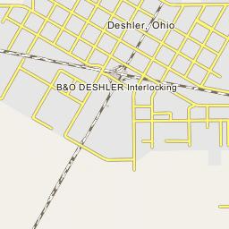 Deshler Ohio Map.B O Deshler Interlocking Deshler Ohio